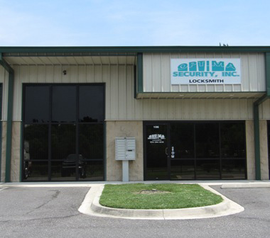 The storefront of Optima Security, Inc. in Jacksonville, FL