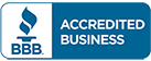 Better Business Bureau logo representing the membership of commercial door services provider Optima Security, Inc. in Jacksonville, FL