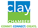 Clay Chamber of Commerce logo representing the membership of commercial security company Optima Security, Inc. in Jacksonville, FL