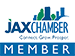 Jax Chamber of Commerce logo representing the membership of commercial door services provider Optima Security, Inc. in Jacksonville, FL